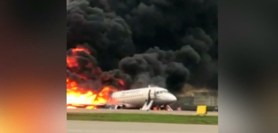 Forty-one people killed in fiery Russian plane crash