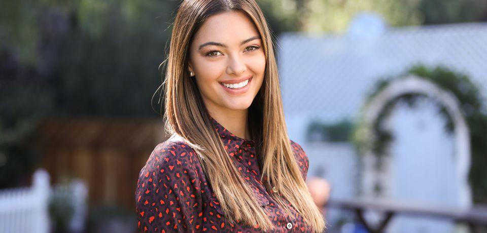 Demi-Leigh Nel-Peters on the set of Emmy-nominated lifestyle show Home & Family