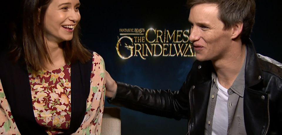 Eddie Redmayne and Katherine Waterston from Fantastic Beasts: The Crimes of Grindelwald