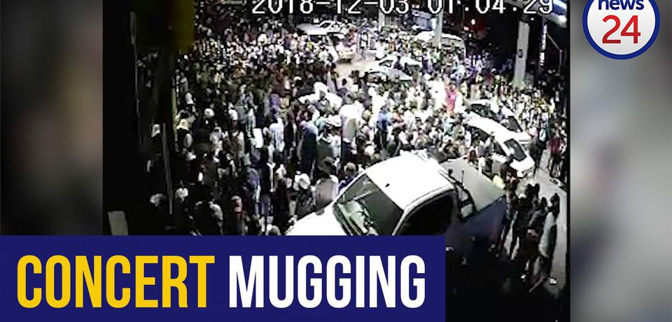 WATCH: CCTV emerges of Sasol garage chaos as thugs target Global Citizens concertgoers