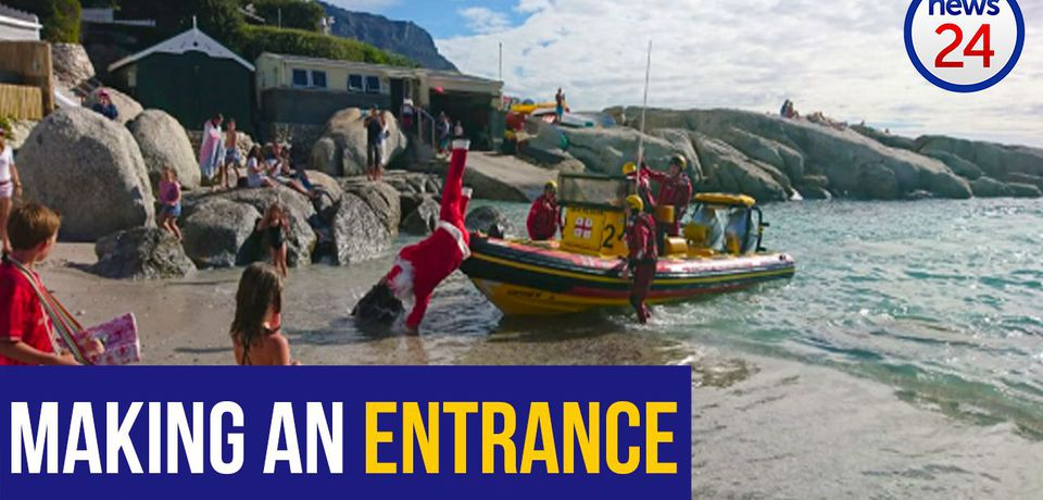 WATCH: 'Ho, ho, whoooa!' - NSRI to the rescue as Santa slips and stumbles off boat