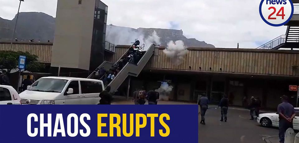 WATCH: Police use stun grenades to disperse picketing MyCiti protesters