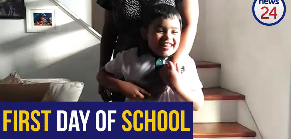 WATCH: Grade 1 pupil gets ready for big school