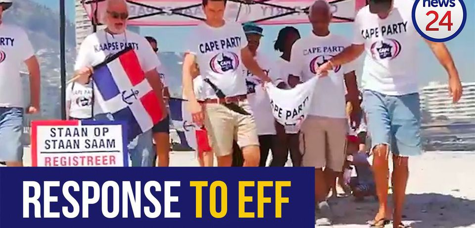WATCH: Political party 'slaughters' watermelon on Cape beach in video stunt