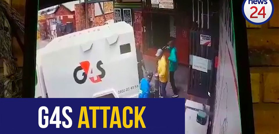 WATCH: Armed thieves attack cash-in-transit guards in Krugersdorp