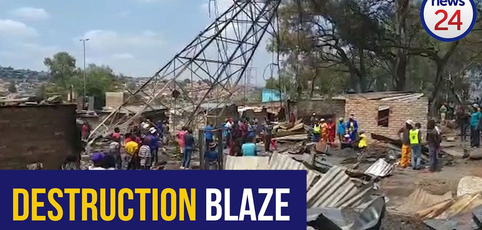 WATCH: More than 170 left homeless after fire rages through Alexandra