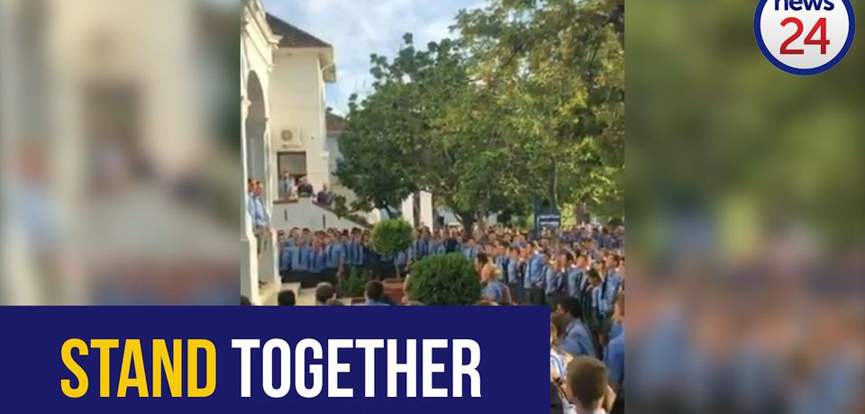 WATCH: Paarl Boys' students appear to support staffers accused of using corporal punishment