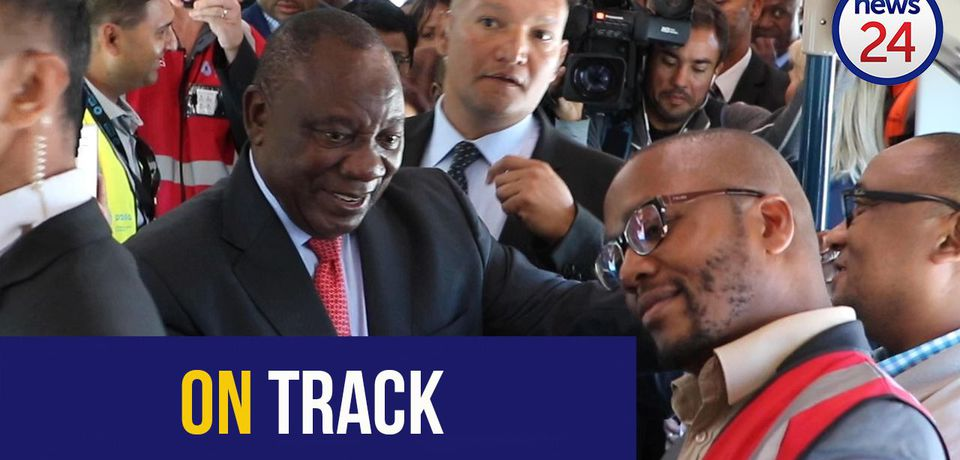 WATCH | True blue: Ramaphosa launches new trains in Cape Town