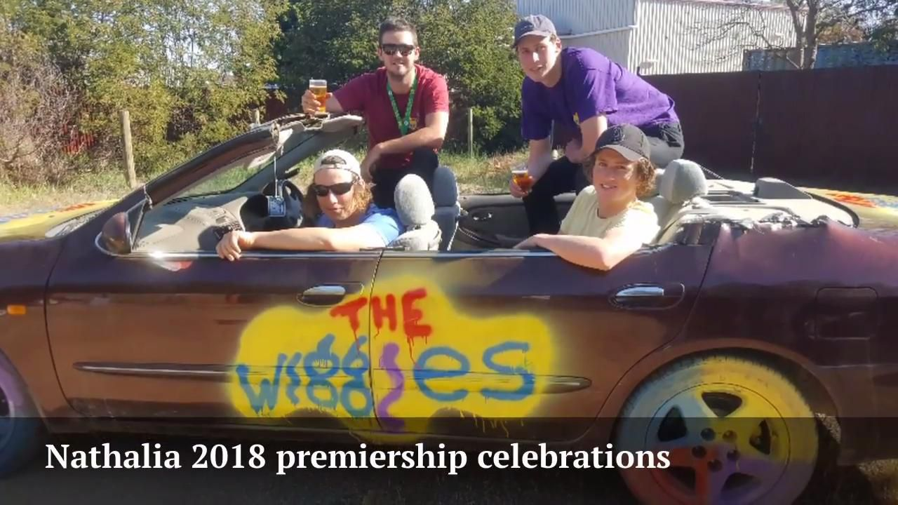 Nathalia 2018 premiership celebrations