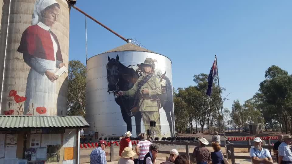 ANZAC tribute & silo art Devenish